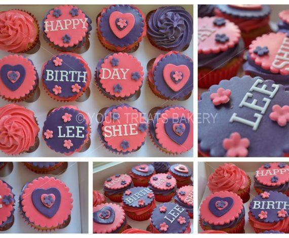 Floral Purples Cupcake