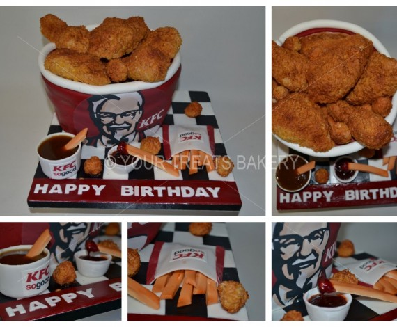 KFC Bucket & Sides Cake