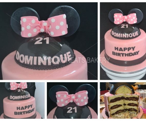 Minnie Mouse Bow Ears Cake