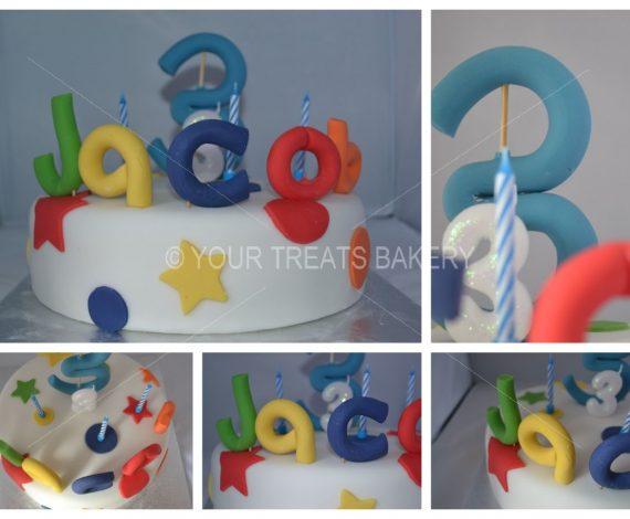 Simple Starry Dotts Cake