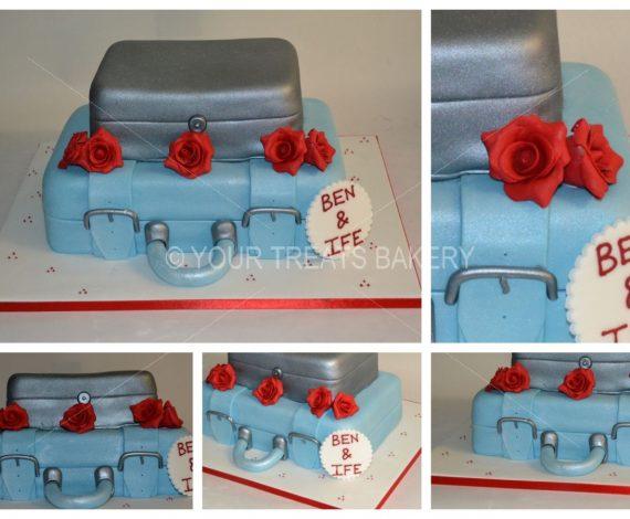 Suitcase & Box Cake