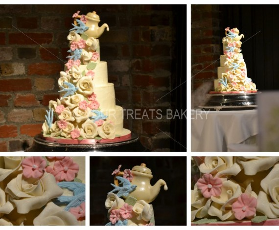Teapots 'a Tippin' Wedding Cake