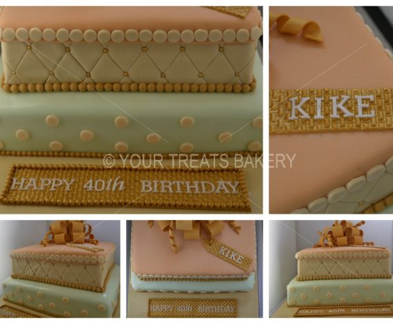 Vintage Gold Cake