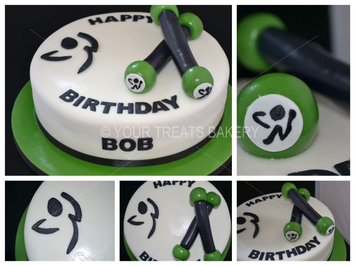Zumba Sticks Cake Your Treats Bakery