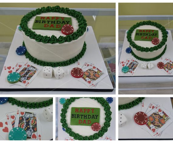 Buttercream Delight Poker Cake