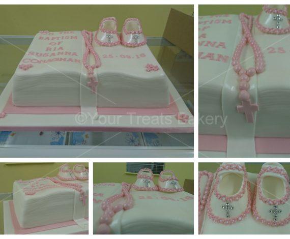 Bible Booties Christening Cake