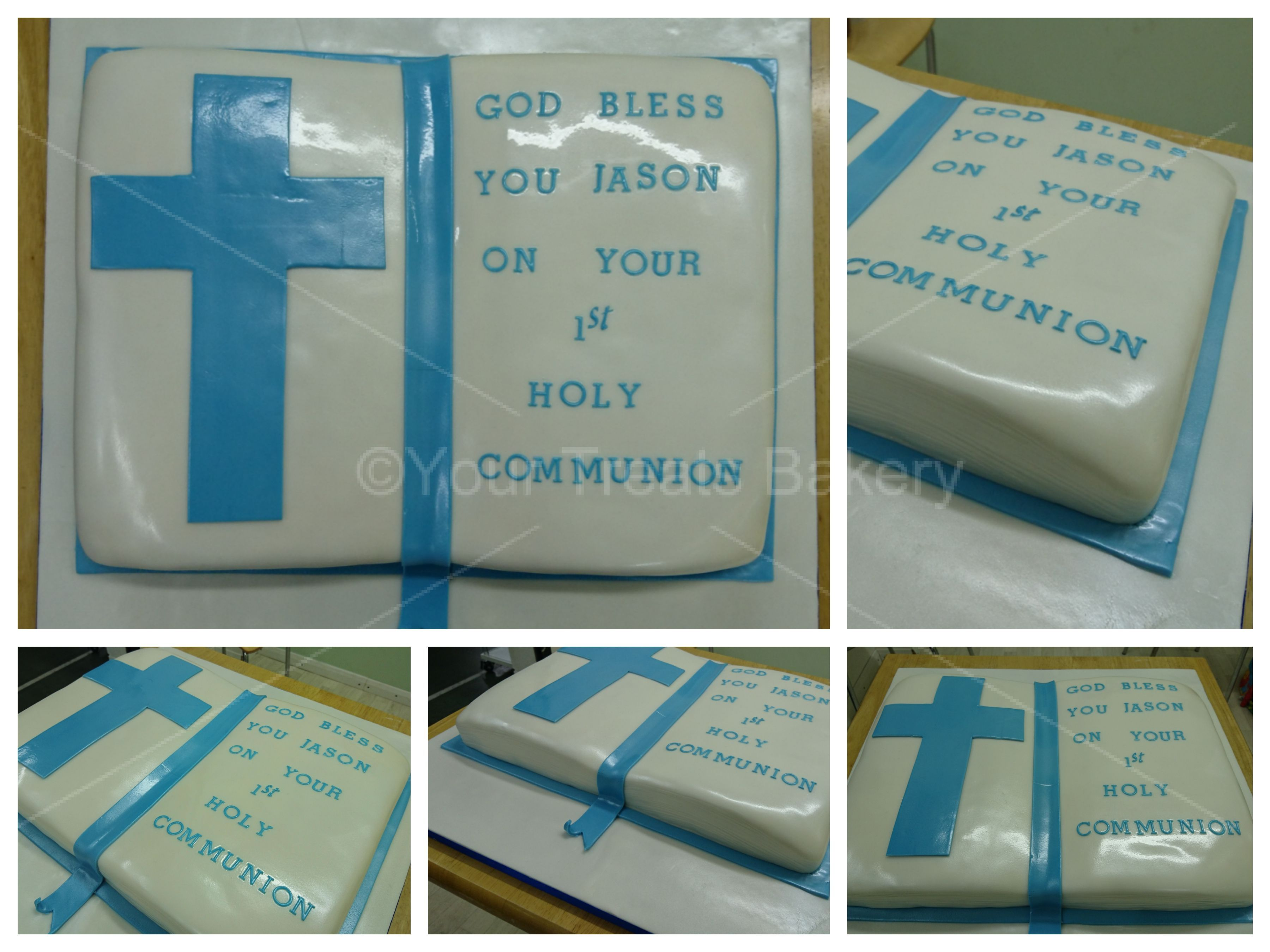 blue bible christening cake your treats bakery