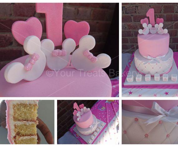 Disney Pink Tier Cake