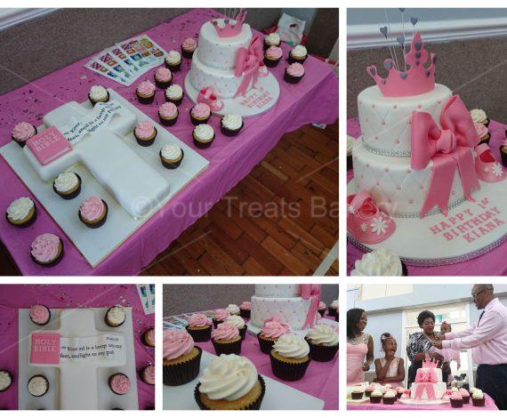 Princess Cross Cake and Cupcake Bundle