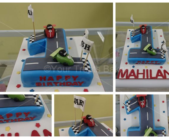 Number 1 Driving Cake