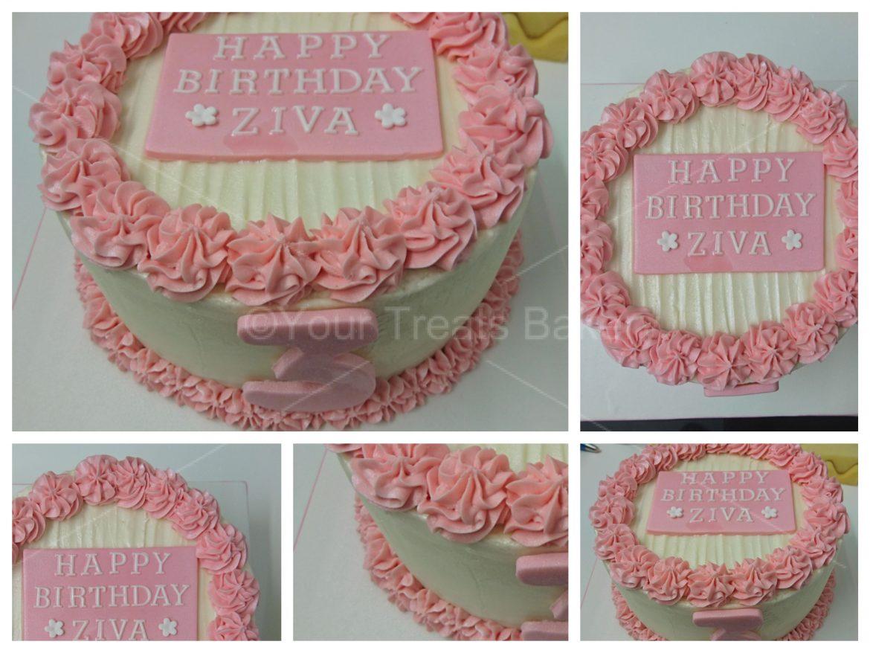 Pink Buttercream Delight Cake