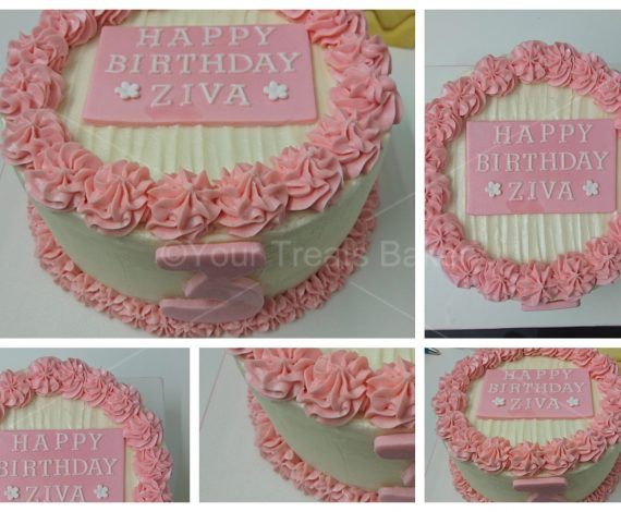 Pink Buttercream Delight Cake