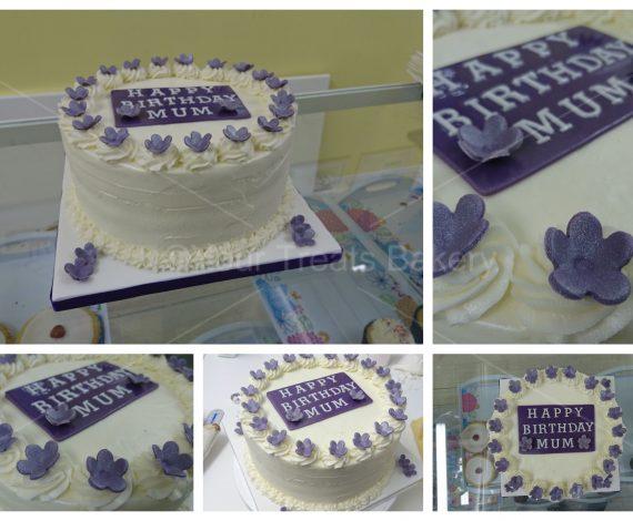 Purple Floral Buttercream Delight Cake