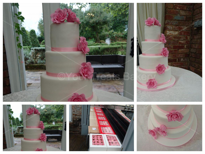 Roses Wedding Cake