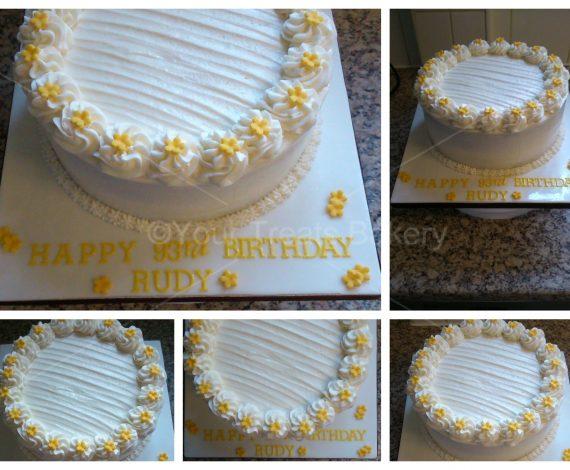 White Buttercream Delight Cake