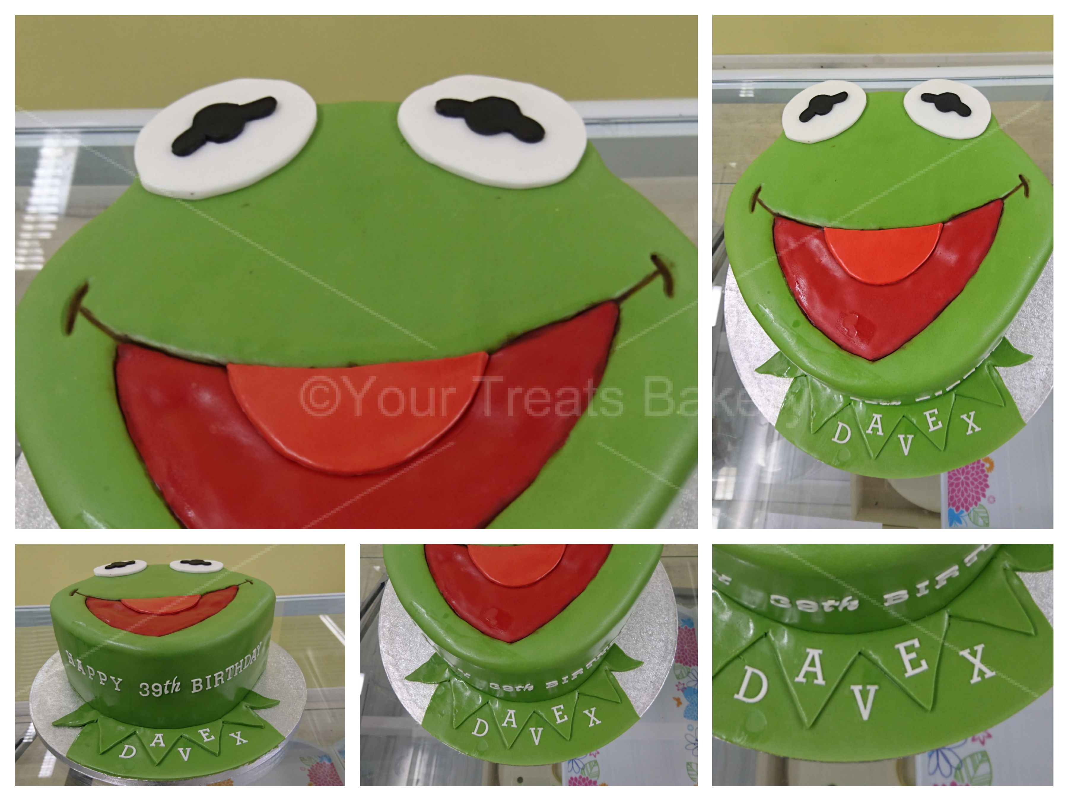 Astounding Kermit The Frog Cake Your Treats Bakery Funny Birthday Cards Online Sheoxdamsfinfo