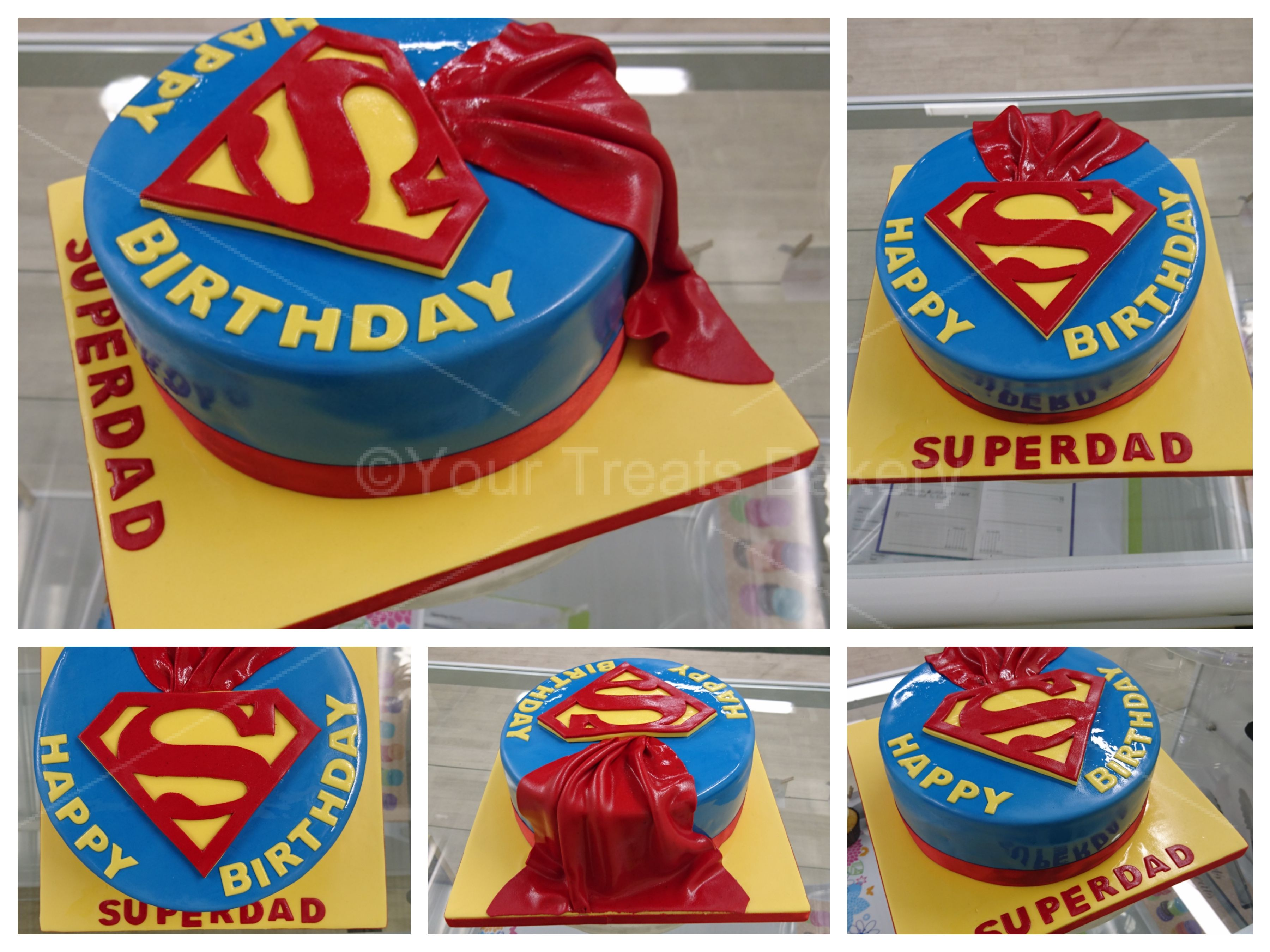 how to make a 3d superman cake