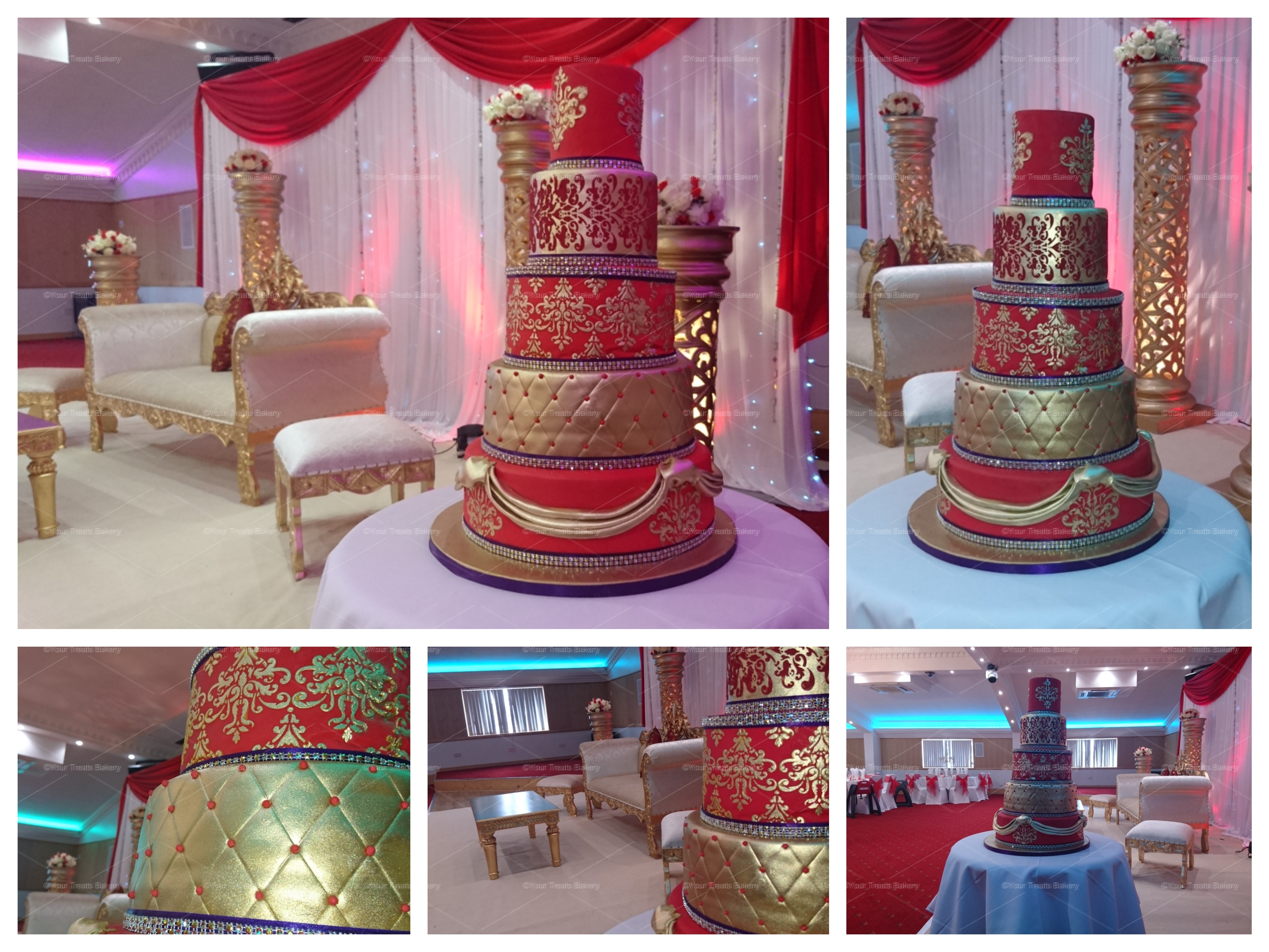 Asian Gold Red Royal Wedding Cake Your Treats Bakery