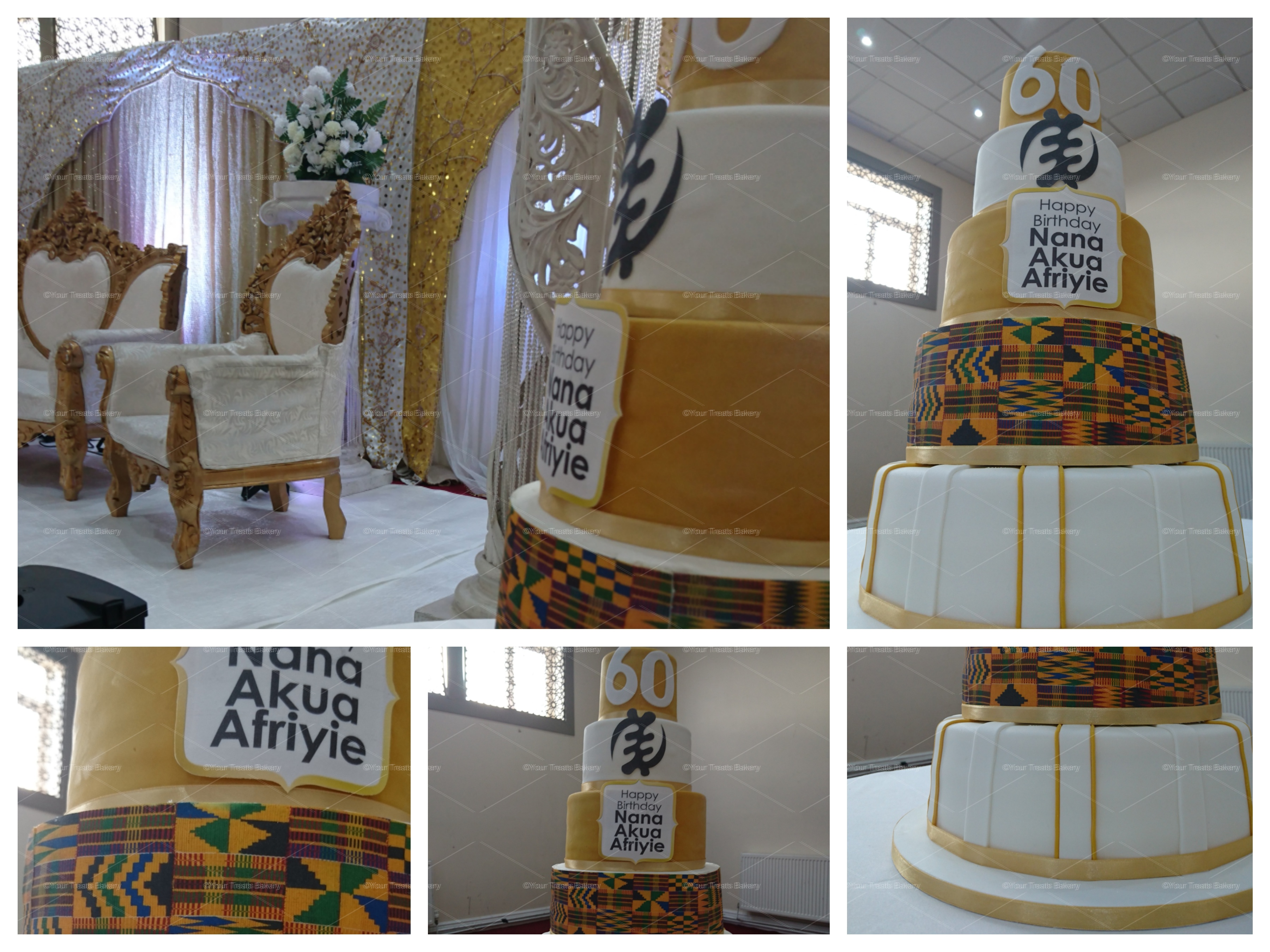 African Inspired Kente Tiered Cake - Your Treats Bakery