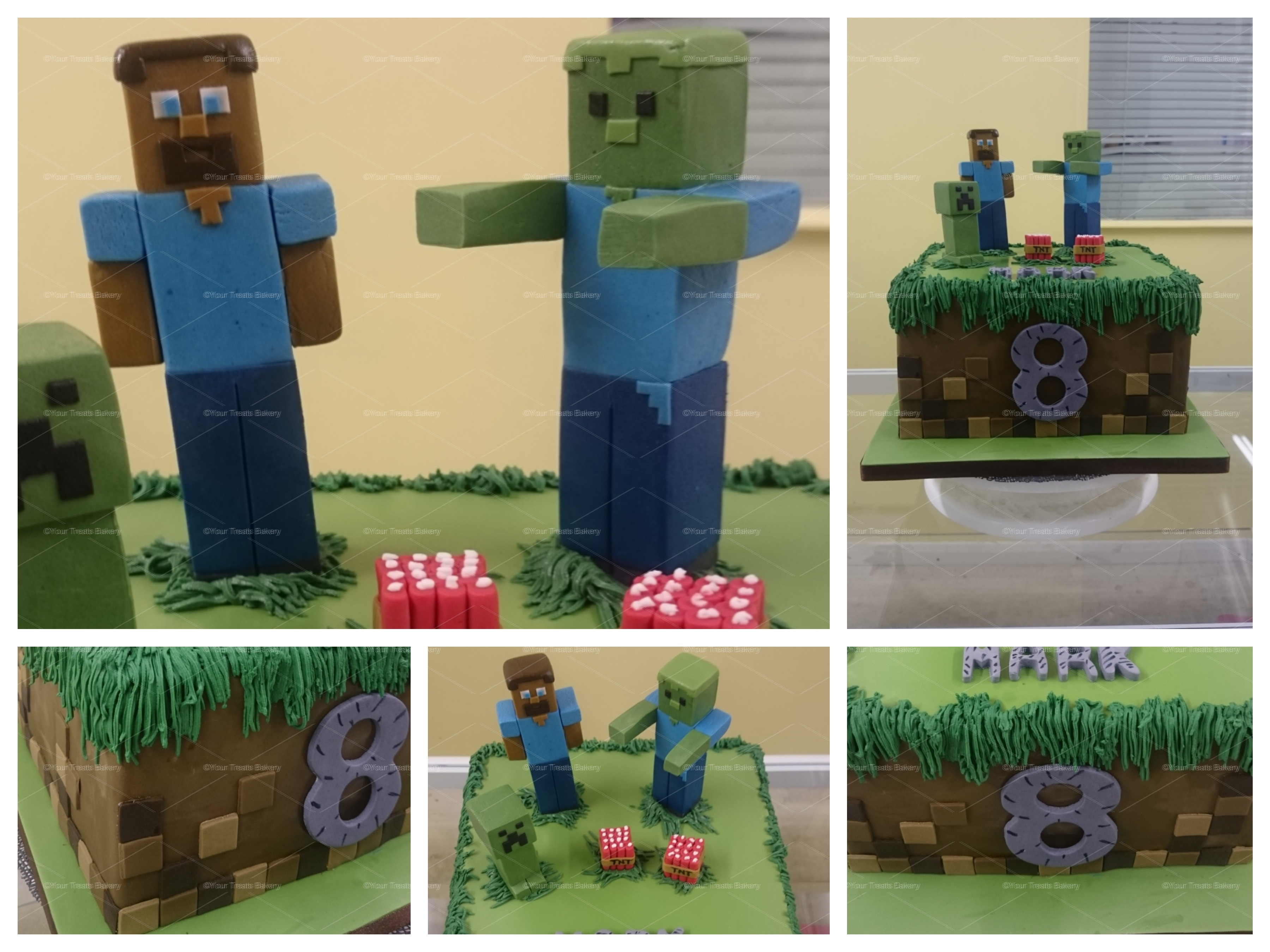 Awesome Minecraft Birthday Cake Your Treats Bakery Funny Birthday Cards Online Fluifree Goldxyz