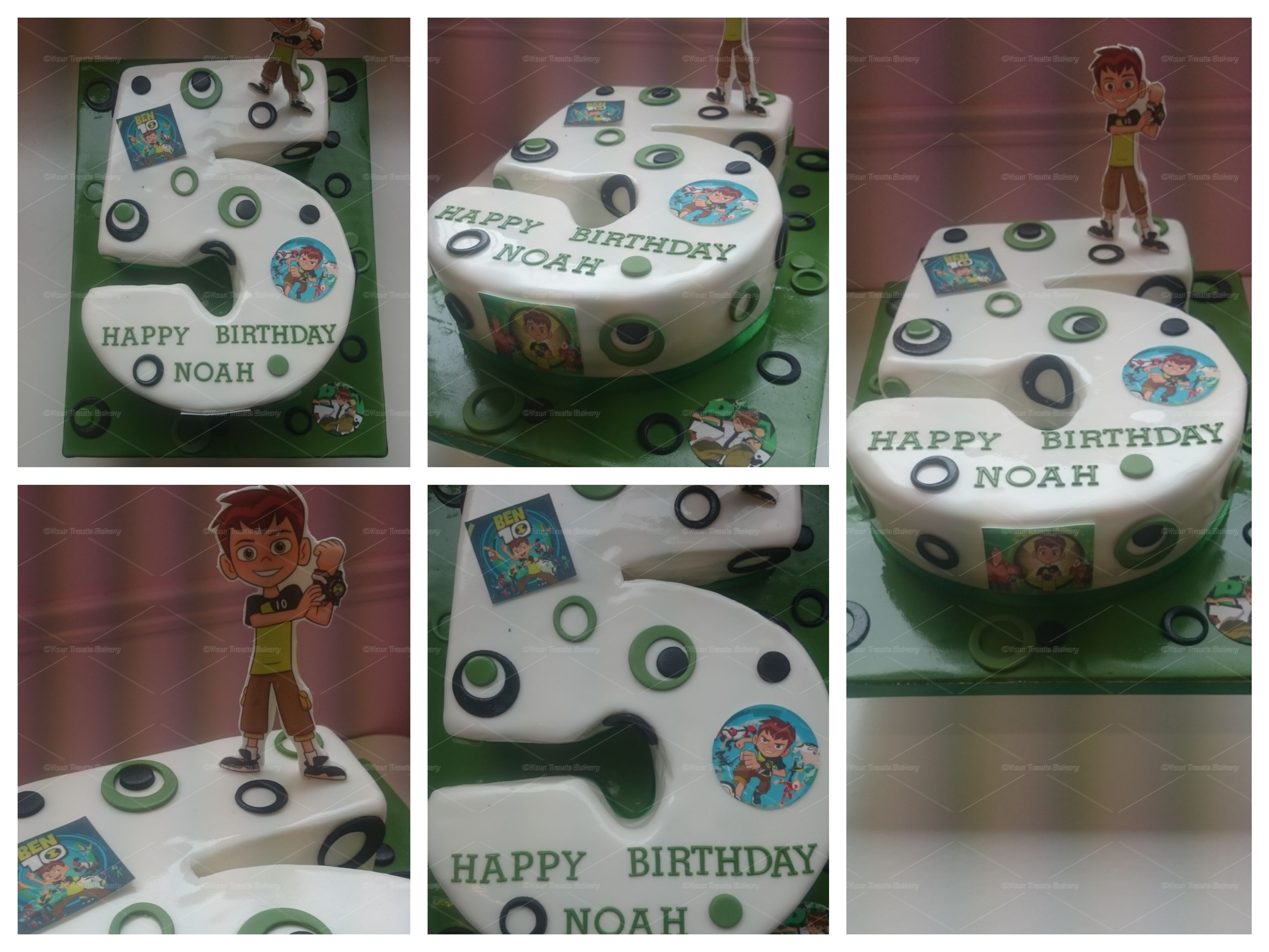 Outstanding Number 5 Ben 10 Cake Your Treats Bakery Personalised Birthday Cards Akebfashionlily Jamesorg