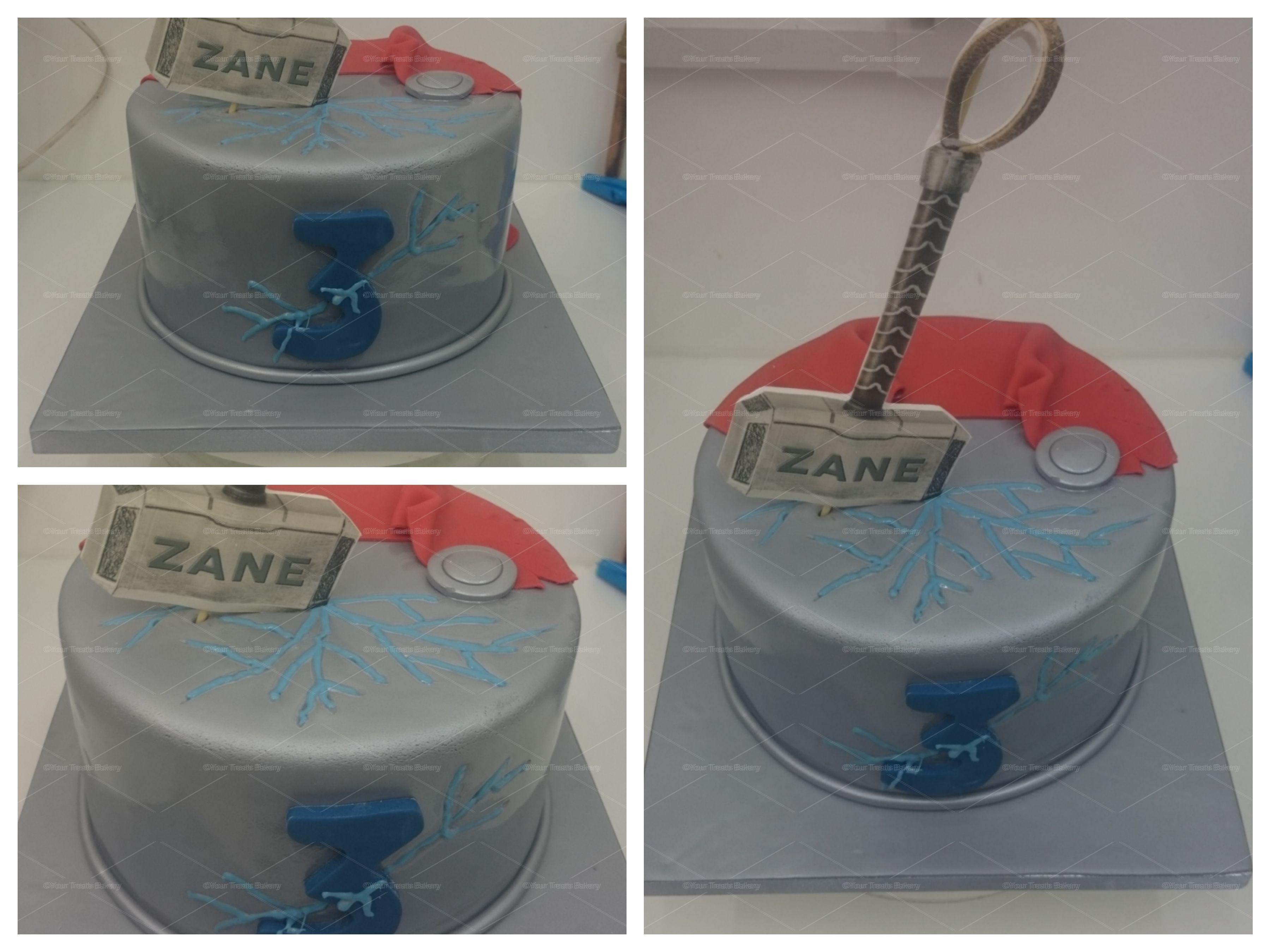 Astonishing Thor Hammer Cake Your Treats Bakery Personalised Birthday Cards Paralily Jamesorg