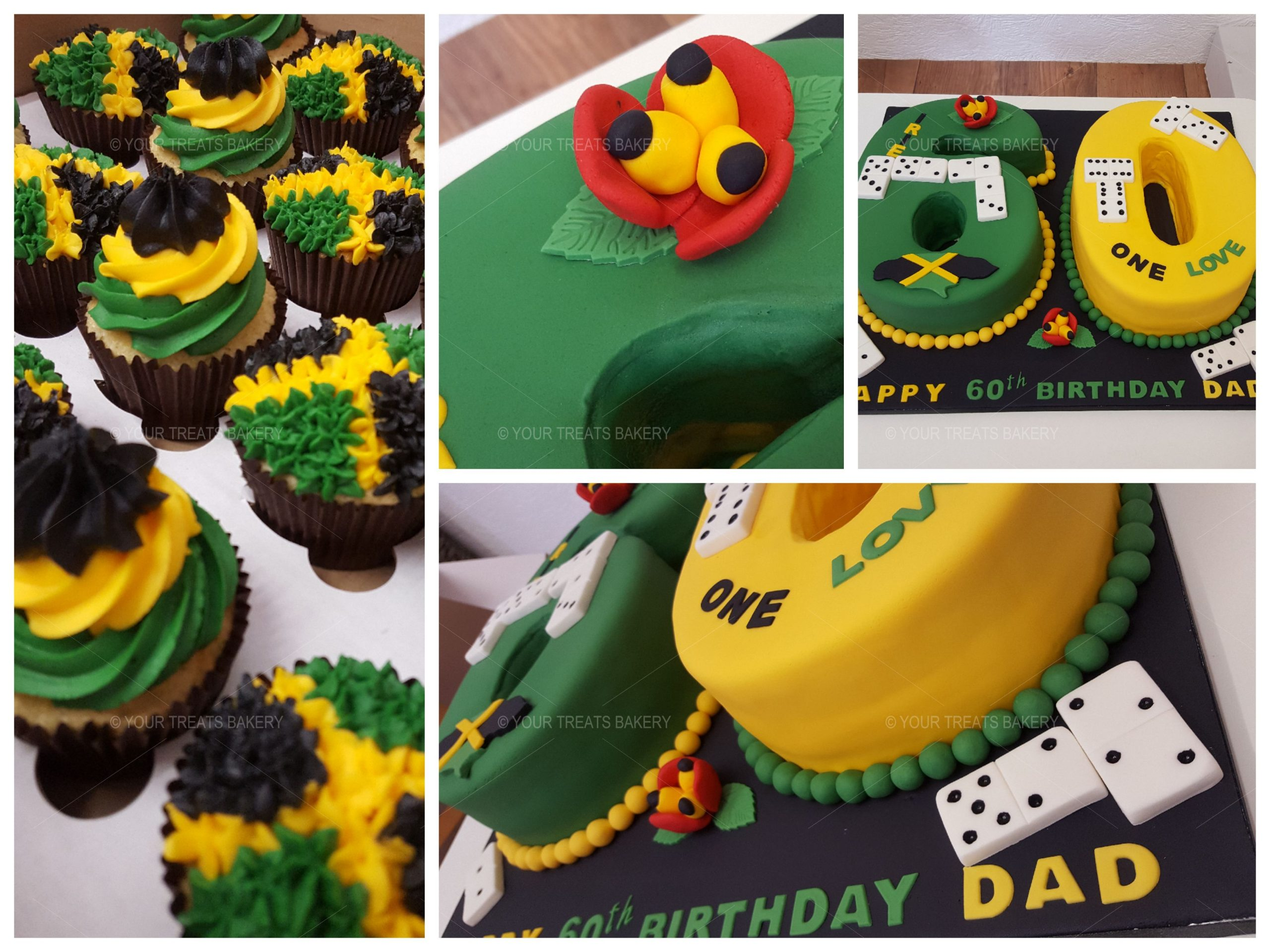 Peachy Number 60 Jamaican Cake Your Treats Bakery Funny Birthday Cards Online Overcheapnameinfo